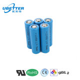 Batterie lithium-ion de Ce/RoHS/UL 3.7V-14500, cellule de batterie 14500