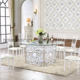 정원 가구를 가진 대중음식점 테이블을 식사하는 단순한 설계 금속