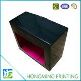 صندوق من الورق المقوّى سوداء لامعة مع [فرونت ويندوو]