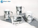 Tazze di tè di ceramica della porcellana della decalcomania animale sveglia