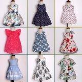 Vestuário floral de 2017 crianças do vestido do verão das meninas do teste padrão da forma