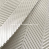 Banda transportadora modificada para requisitos particulares del modelo Herringbone blanco del PVC