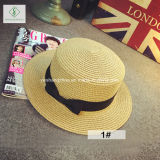 여름 동안 리본을%s 가진 2017의 새로운 디자인 중절모 종이 밀짚 모자