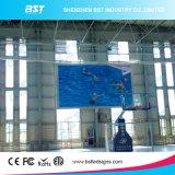 空港のためのアルミ合金/鋼鉄ジャイアントP4 SMD2121屋内固定広告LEDスクリーン
