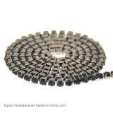 Roulis de chaîne de cuvette de cristaux de Bling Swaro de noir de gicleur de placage de griffe en métal de canon (noir de TCG-Gicleur)