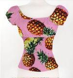 El último verano de la blusa de la mujer del diseño de la tapa de la cosecha de la manera 2017