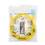 Embalaje del cable CAT6 UTP 7*0.2m m de la corrección de 5 negros/azules/grises/rojo/amarillo