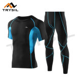 Komprimierende Abnützung-Komprimierung-Hemd-/Gamaschen-Sport-Klage-Eignung übersteigt und keucht Kleidung für Mens