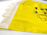 Sacos amarelos do borne do transporte do LDPE da cor com logotipo preto