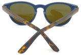 Frame redondo Sunglass de madeira do ébano da alta qualidade Fqwa162571