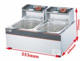 da máquina elétrica da frigideira da pressão de Kfc da tabela 12L frigideira profunda superior de Commerical