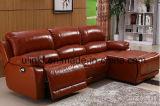 Sofá moderno do Recliner da massagem da função do couro da sala de visitas (UL-NS519)