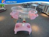 Carro plástico transparente del bebé del pesebre del hospital de la ISO FDA del Ce (GT-2310A)