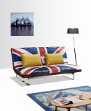 Sofá-cama com dois divisões de estilo britânico