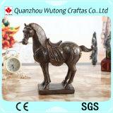 Estatua de los caballos de la resina de la decoración de la oficina pequeña para la venta