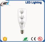 Lo stwinkle della lampadina di MTX LED illumina gli indicatori luminosi per la casa, lampadine che della lampada LED del LED di MTX LED IL CE ST64 scalda l'illuminazione stellata bianca della decorazione della lampadina di risparmio di energia 3W LED
