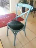 X Rückseiten-Eisen-Stuhl für Hochzeit, Hochzeits-Eisen-Garten-Stuhl