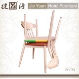 A madeira de metal terminou a cadeira de jantar acolchoada de couro (JY-F73)