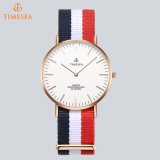 Montre en nylon 71255 de type de Daniel Wellington de dos d'acier inoxydable de montre de mode