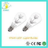 Stoele St64 2W 별 LED 전구 Edison 램프 에너지 절약 끈 빛
