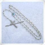 I rosari all'ingrosso, catena poco costosa cattolica Nutural del branello del rosario lapida il rosario cristiano dell'agata (IO-cr363)