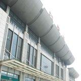 El panel de pared de aluminio de mirada moderno de cortina del techo de la capa de PVDF con garantía incombustible de 20 años