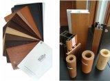 U-PVC Windows 단면도를 위한 PVC 필름을 박판으로 만드는 나무로 되는 곡물