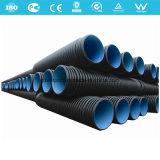 Tubulação ondulada do plástico da drenagem da parede dobro do HDPE