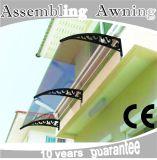 Europäische Entwurfs-Art-Aluminiummarkise für dekorativen Gebrauch