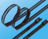 Черная застежка-молния нержавеющей стали связывает изготовление