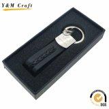 Anello chiave di Keychain del regalo della fabbrica del cuoio promozionale del metallo