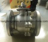 Extrémité de bride de robinet à tournant sphérique avec l'acier inoxydable rf 2PC