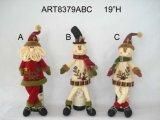 Cubierta de la botella de vino del muñeco de nieve de Santa, la Navidad Gifts-3asst