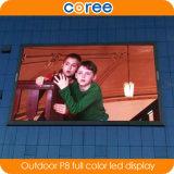 Im Freien hohe Helligkeit P8 farbenreiche LED-Bildschirmanzeige