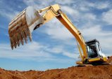 Máquina escavadora hidráulica psta da esteira rolante do tipo motor superior