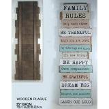 Signes en bois de type de maison de décor d'art européen de mur