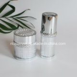 Glossy Silver Acrylic Cream Jar Lotion Bottle with Ring (PPC-NEW-103)