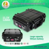 (QSD1604) paquete de la batería de litio del almacenaje de energía de 11.1V 120Ah