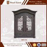 Porte d'entrée européenne de porte en métal de porte d'entrée de garantie de type