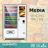 Микстура и холодный торговый автомат еды с экраном LCD 23 дюймов