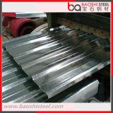 Placa de aço ondulada galvanizada SGCC de chapa de aço para a telhadura do metal