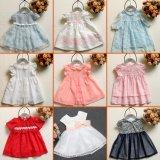 Vestido floral Sleeveless das meninas do teste padrão para o vestido do verão das crianças
