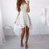 Form-Frauen-Spitze-Ineinander greifen Swallowtail Partei-Beleg-Kleid