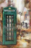 pintura del metal 3D para la cabina de teléfono con color verde