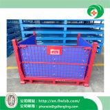 Gaiola dobrável do engranzamento de fio de aço para o armazenamento do armazém