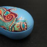 De kleurrijke Doos van het Voedsel van het Metaal van de Druk Pea-Shaped/de Doos van de Gift (B001-V18)