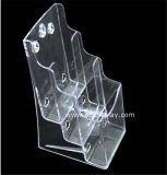 Duidelijke Plastic A6 3 Fabrikant btr-6311-2 van de Houder van de Brochure van Banden