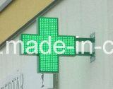 두 배 옆 단 하나 색깔 약학 LED 십자가 전시 광고