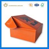 Orange cadre ondulé d'E-Cannelure estampé pleine par couleur (avec le logo fait sur commande de marque)