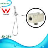 Suporte escovado suporte do chuveiro do aço inoxidável 304 para o chuveiro